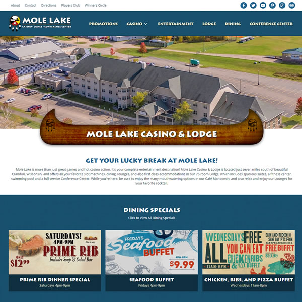 Mole lake casino directions best western plaza hotel casino telefono